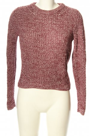 H&M Divided Rundhalspullover rot Zopfmuster Casual-Look