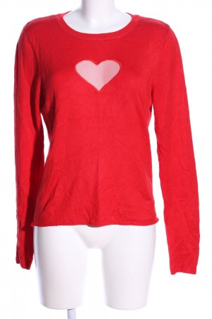 H&M Divided Crewneck Sweater red themed print casual look