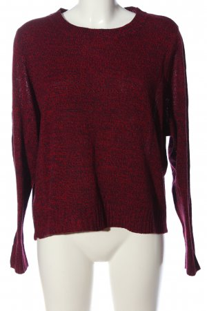 H&M Divided Rundhalspullover rot meliert Casual-Look