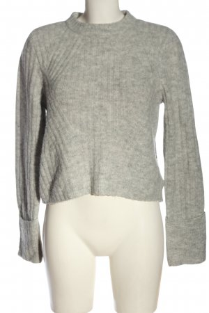 H&M Divided Rundhalspullover hellgrau meliert Casual-Look
