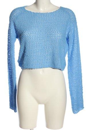 H&M Divided Rundhalspullover blau Casual-Look