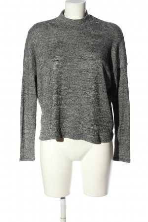 H&M Divided Crewneck Sweater light grey flecked casual look