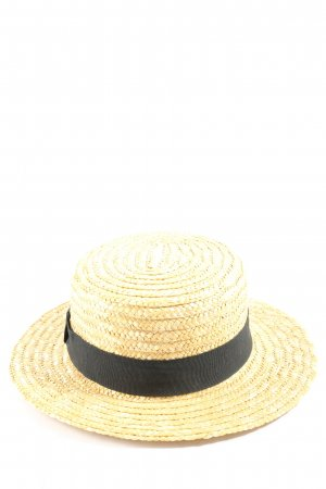 H&M Divided Safari Hat primrose-black weave pattern casual look