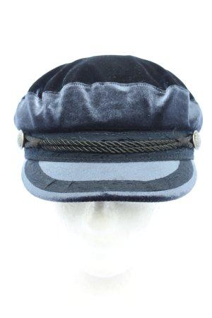 H&M Divided Cappello con visiera blu-nero stile casual