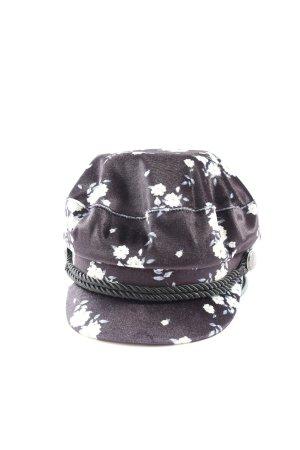 H&M Divided Cappello con visiera lilla-bianco stampa integrale stile casual