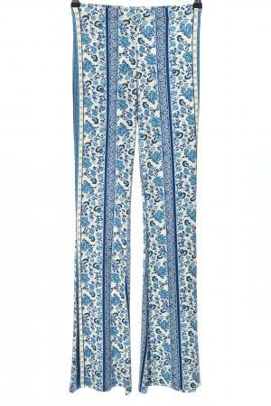 H&M Divided Flares blue-white flower pattern casual look