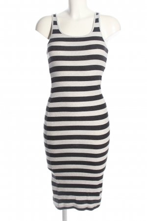 H&M Divided Tube Dress natural white-black allover print casual look