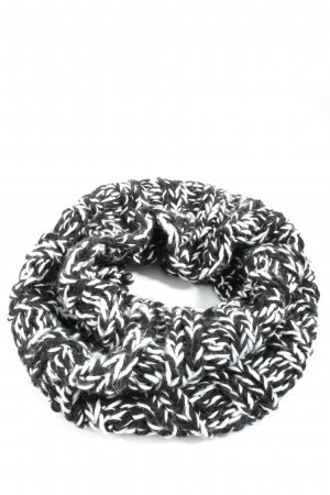 H&M Divided Tube Scarf black-white flecked casual look