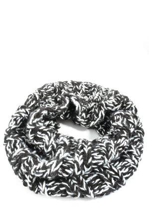 H&M Divided Écharpe tube noir-blanc moucheté style décontracté