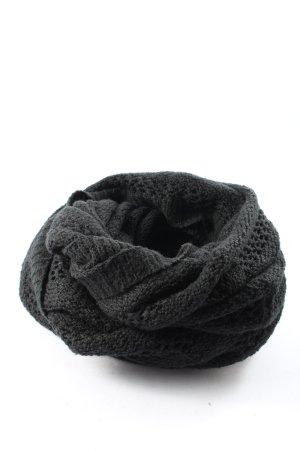 H&M Divided Scaldacollo nero punto treccia stile casual