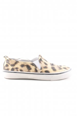 H&M Divided Slip-on Shoes cream-black allover print casual look