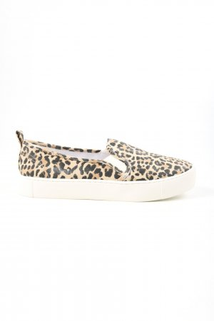 H&M Divided Slip-on Shoes cream-black leopard pattern casual look