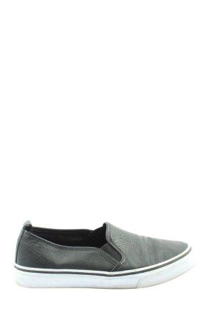 H&M Divided Schlüpfsneaker schwarz Casual-Look