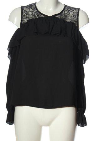 H&M Divided Schlupf-Bluse schwarz Elegant