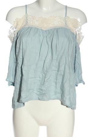 H&M Divided Schlupf-Bluse blau-weiß Casual-Look