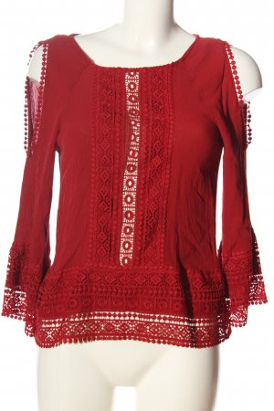 H&M Divided Schlupf-Bluse rot Webmuster Casual-Look