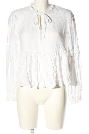 H&M Divided Schlupf-Bluse weiß abstraktes Muster schlichter Stil