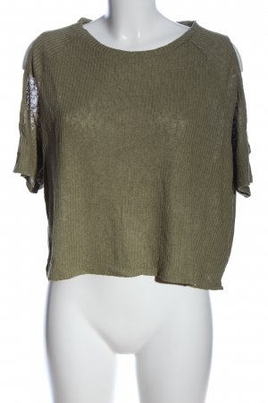 H&M Divided Schlupf-Bluse khaki Casual-Look