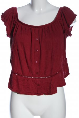 H&M Divided Schlupf-Bluse rot Casual-Look