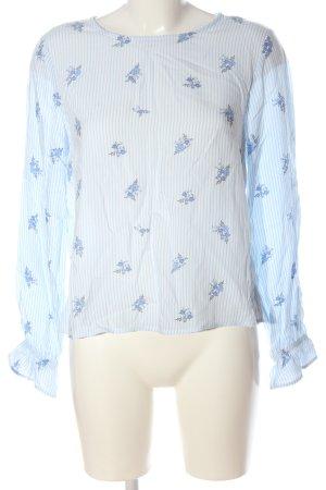 H&M Divided Schlupf-Bluse blau-weiß Streifenmuster Casual-Look