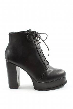 H&M Divided Lace-up Booties black casual look