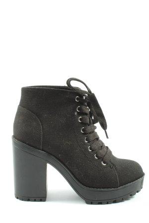 H&M Divided Bottines à lacets noir style décontracté