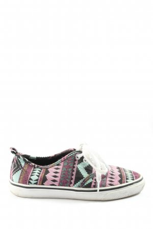 H&M Divided Schnürschuhe grafisches Muster Casual-Look