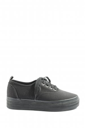 H&M Divided Lace-Up Sneaker black casual look