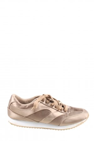 H&M Divided Schnürsneaker goldfarben Casual-Look