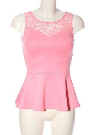 H&M Divided Top peplo rosa elegante