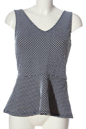 H&M Divided Top z baskinką czarny-biały Na całej powierzchni W stylu casual