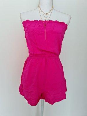 H&M divided schulterfreier Jumpsuit in pink Gr. 36