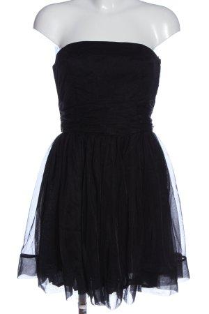 H&M Divided schulterfreies Kleid schwarz Elegant