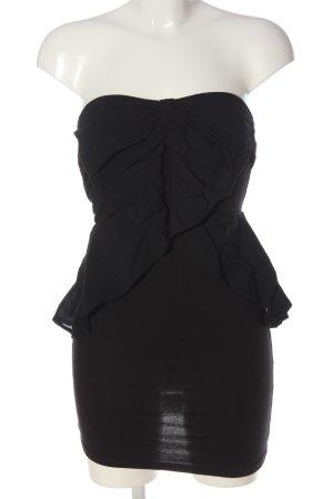 H&M Divided schulterfreies Kleid schwarz Casual-Look