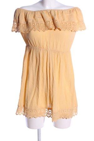 H&M Divided schulterfreies Kleid hellorange Casual-Look