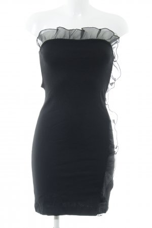 H&M Divided schulterfreies Kleid schwarz extravaganter Stil