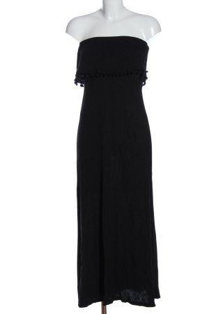H&M Divided schulterfreies Kleid schwarz Party-Look