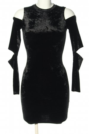 H&M Divided Cut-Out-Kleid schwarz Business-Look