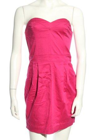 H&M Divided schulterfreies Kleid pink Elegant