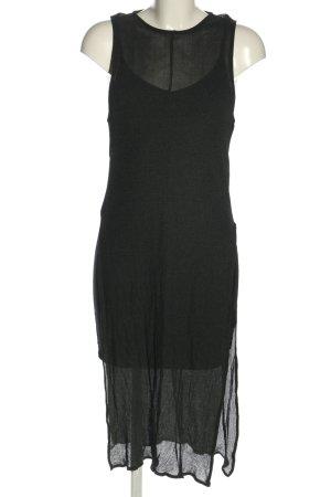 H&M Divided schulterfreies Kleid schwarz meliert Casual-Look