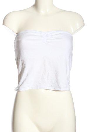 H&M Divided Hauts épaule nues blanc style décontracté