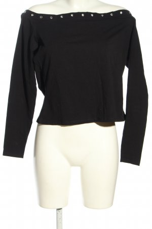 H&M Divided schulterfreies Top schwarz Casual-Look