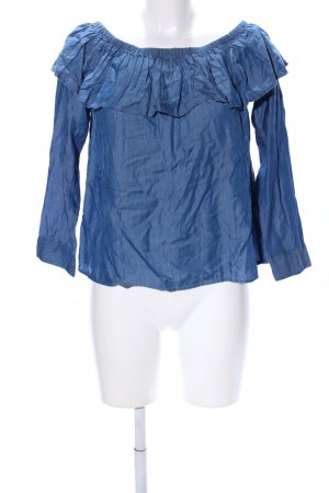 H&M Divided Top sin hombros azul look casual