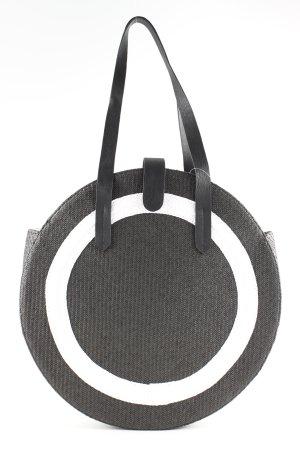 H&M Divided Schultertasche schwarz-weiß Casual-Look