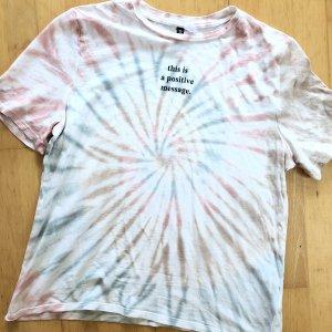 H&M Divided Shirt Gr S Batik Pastell oversized TShirt