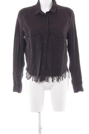 H&M Divided Chaqueta estilo camisa negro look casual