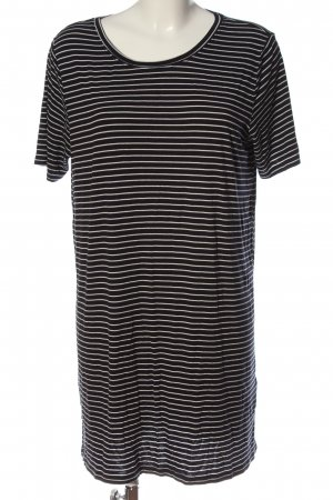 H&M Divided Shirt Dress black-natural white striped pattern casual look