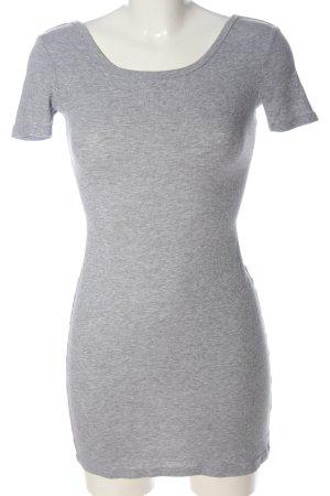 H&M Divided Shirtkleid hellgrau meliert Casual-Look