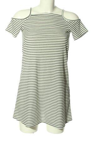 H&M Divided Shirtkleid weiß-schwarz Allover-Druck Casual-Look
