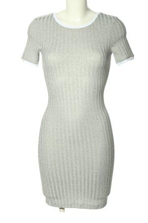 H&M Divided Shirtkleid hellgrau-weiß Casual-Look